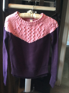 Ivivva by Lululemon sweater dance cover up purple and pink sz 10