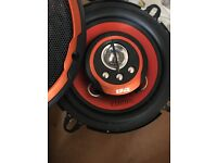 Bluetooth car stereo and edge door speakers x2
