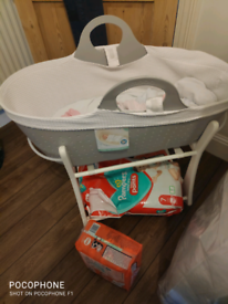 Moba next to me moses basket (price reduction for quick collection)