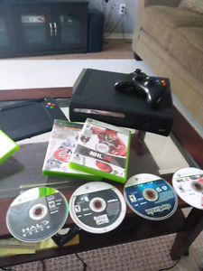 Xbox 360 120gb with Rock band 1 controller & 7 games