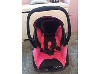 Pink recaro car seat