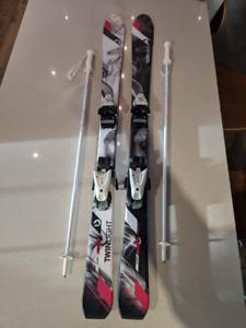 Ensemble de ski alpin junior (Skis/bottes/casque/pôles)