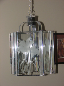 Light fixtures -3 matching pieces in chrome
