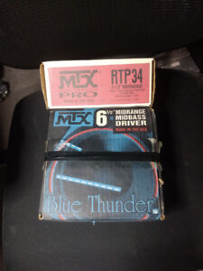 MTX Midbass and Midrange drivers