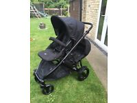 Britax b dual buggy can be used as a single or double