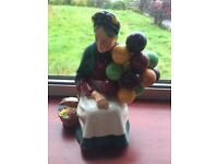 Royal Doulton The Old Balloon Seller Immaculate condition Balloon Lady