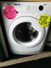 White zanussi 8kg load washing machine