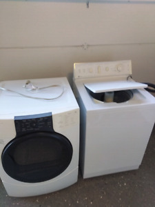 Washer and gas dryer