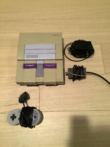 Super Nintendo SNES Console with All Hook Ups and 1 Controller