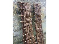 4 Hazel hurdles 6ft x 1ft high