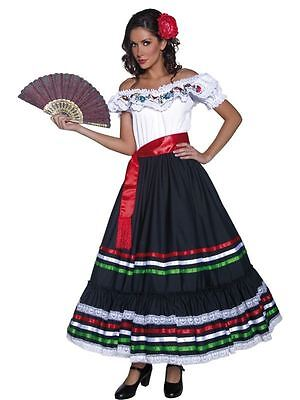 Authentisch Western Sexy Senorita Kostüm, Cowboys und Indianer Kostüm, 8-10