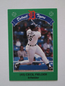 Complete Set of 28 Cards from 1990 Kroger Coke Detroit Tigers