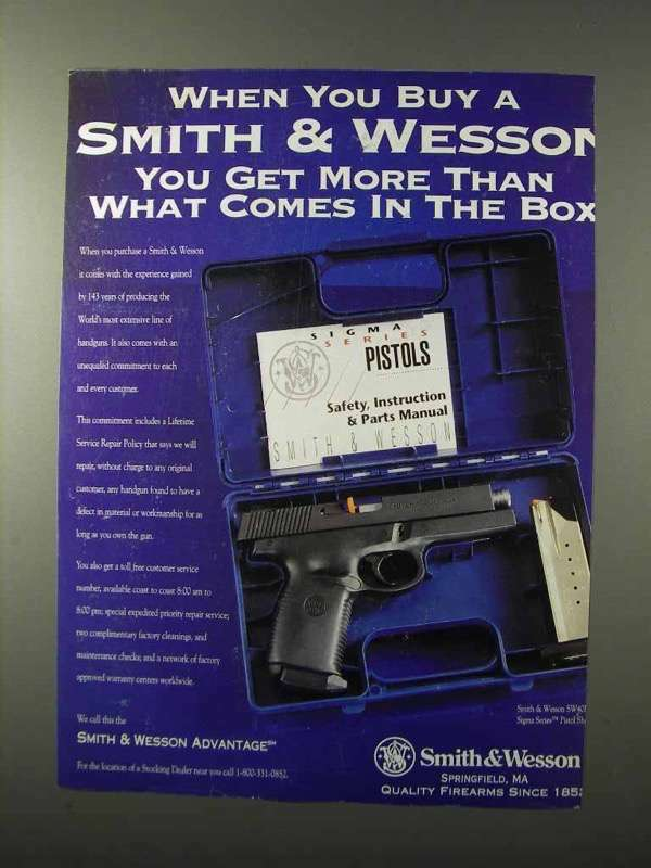 1995 Smith & Wesson Sigma Series Pistol Ad - Get More