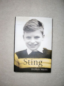 """AUTOGRAPHED COPY OF """"STING - BROKEN MUSIC""""- HARD COVER"""