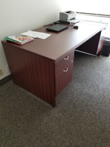 Solid Wood Executive Desk