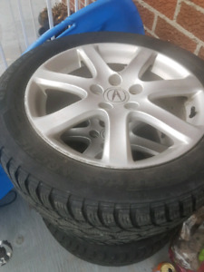 4 tire 4 mags size 215 55 17 400$