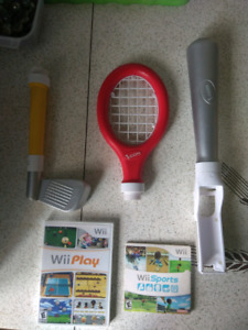 Wii sports, wii play et accessories