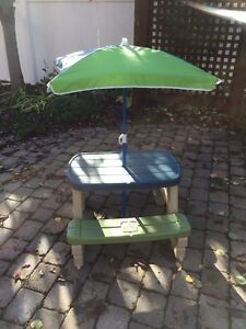 Picnic table and umbrella - Step 2