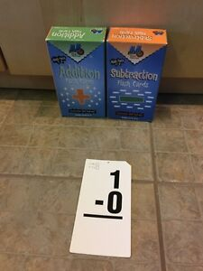 Flash cards maths (additions et soustractions) West Island Greater Montréal image 1