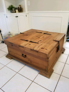 Authentic Rustic Mexican Pine coffee table/trunk
