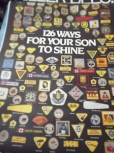"""""""126 BOY SCOUTS BADGES"""" BUS SHELTER POSTER/RARE JUMBO POSTER"""