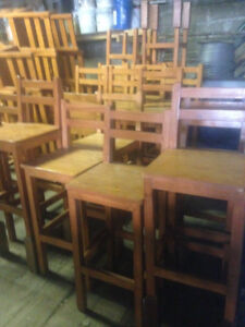 Chairs wood - Restaurant Chairs - Bar Chairs $39 each, 50 chairs