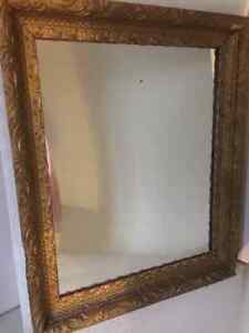 Vintage Mirror Gold Gilt Wood Frame French Country Shabby Chic Oakville / Halton Region Toronto (GTA) image 2
