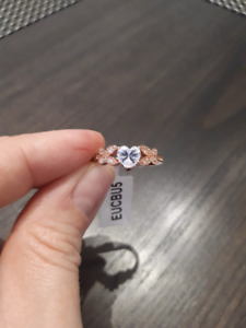 Brand New size 8 Charmed Aroma ring in rose gold over 925 SS