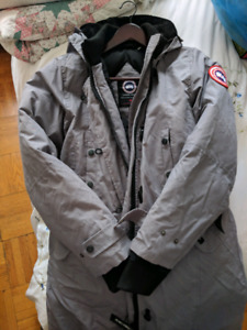 large grey canada goose coat, no fur