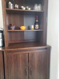 Brown cabinet / cubby