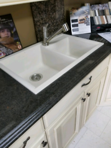Granite sink and stainless steel faucet brand New!