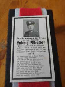 WW2 German Death Card