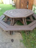 Sold very heavy picnic table