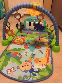 Fisher Price Kick Piano playmat Good Condition