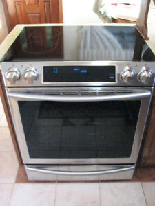 Almost brand new slide-in Samsung electric range