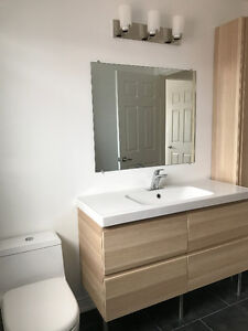 New Bathroom Vanity, Tiles, Tub and Shower Kits - Bathroom Renos