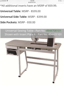 Janome Universal Sewing Table fits inserts (494708101) like new