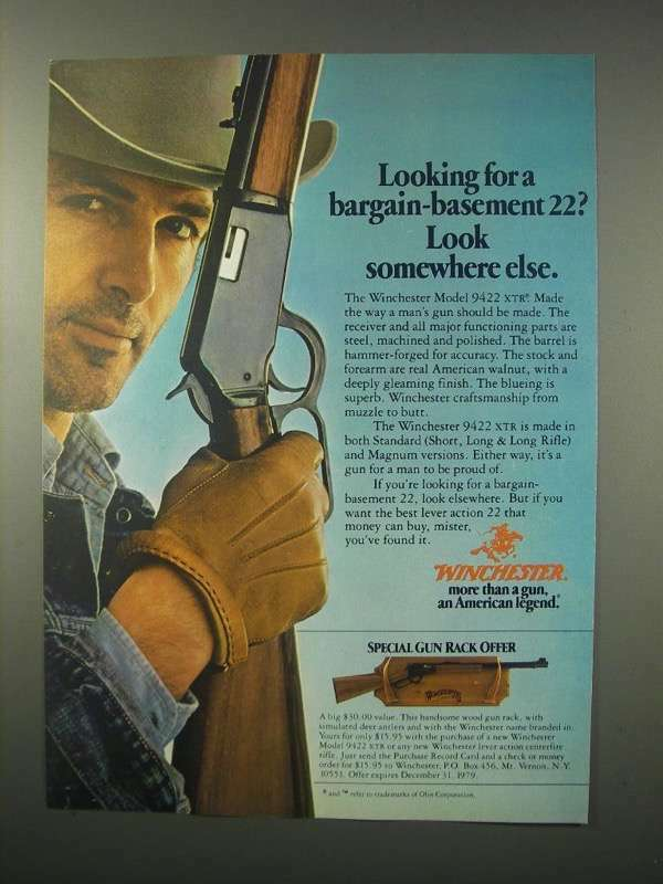 1979 Winchester Model 9422 XTR Rifle Ad