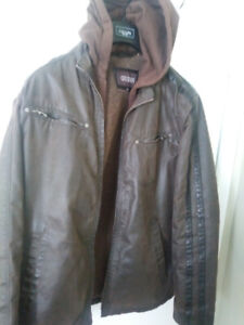 MEN'S LEATHER INSULATED GUESS JACKETs, other jackets