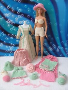 Vintage Hand-Made Barbie Clothing ~ Beach wear ~ swim suits