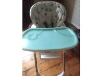 Joie Mimzy reclining Highchair High Chair