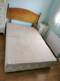Double Divan Bed Frame with 4 drawers and headboard