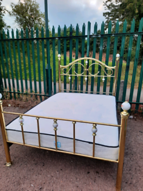 Gold like Double bed + mattress (delivery available