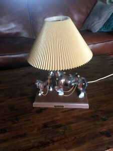 """Vintage 1960s Clydesdale Horse 16"""" Table Lamp"""