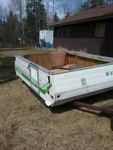 viking tent trailer striped down