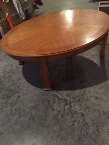 Oval coffee table and side table