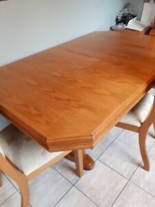 solid wood table and chairs for sale OBO