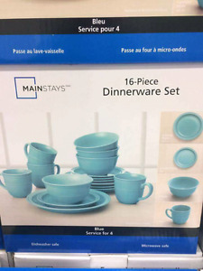 Mainstay 16pc Dinnerware Set