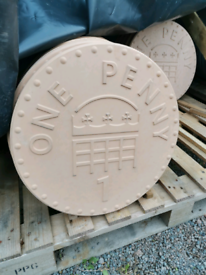 Giant penny slabs