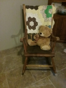 Large sturdy very solid rocking chair